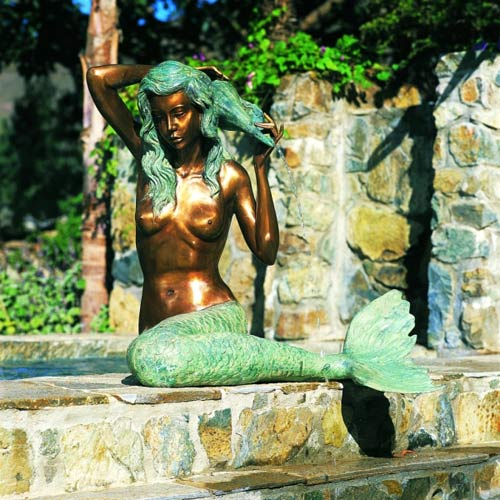 Mermaid bronze large water fountain from www.sealand.tv
